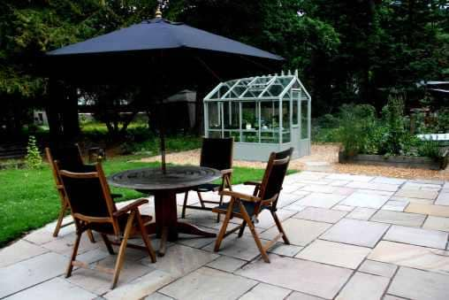 garden landscaping Edinburgh garden patio example