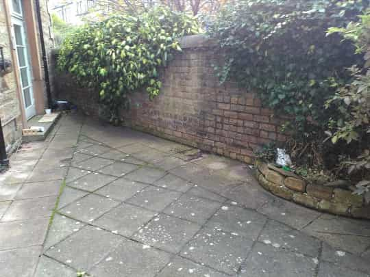 garden patio before example