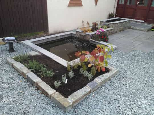 garden landscaping Edinburgh before example